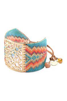 Vitrail Beaded Cuff Bracelet by Mishky on @HauteLook