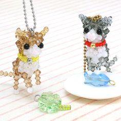 レシピNo.810 ねこ cats -- free bead tutorial