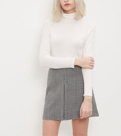 Petite Cream Turtle Neck Long Sleeve Top | New Look