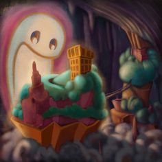 Ghost light underground Island  #island #cool #artist #nofilter #drawing #draw #sketch #artoftheday #artwork #brushpen #digital #illustrazione #illustration #love #procreate