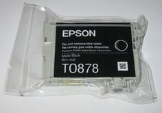 Ink Coupons For - Epson T0878 Ink Cartridge - Matte Black - Sealed Genuine - For R1900 Printer - http://www.inkcoupon.org/epson-t0878-ink-cartridge-matte-black-sealed-genuine-for-r1900-printer/