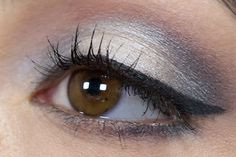 Oooh! Silver and Pink makeup for brown eyes.