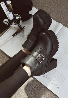 Black Platform Boots - saw these all over the UK, regret not buying em