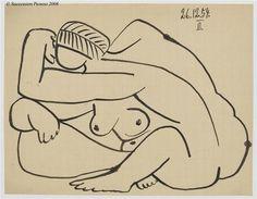 Pablo Picasso – Etude pour 'Les Femmes d'Alger' d'Après Delacroix, 1954 - Top-Trends Kunst Picasso, Pablo Picasso Drawings, Picasso Sketches, Picasso Cubism, Picasso Paintings, Art Drawings, Pablo Picasso Zeichnungen, Art Walk, Magritte