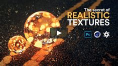 The Secret of Realistic TexturesIn this tutorial, I talk about materials and textures. Ever wondered what is the difference between materials and textures? There's a bit of theory for you too. Texture Mapping, 3d Texture, Asphalt Texture, 3d Cinema, Polygon Modeling, Cinema 4d Tutorial, What Is The Secret, After Effect Tutorial, Photoshop Effects