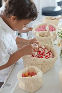 Lolly Buffet: Scout & Charm Wedding - these bags are from Ikea, I use them to divide my make up