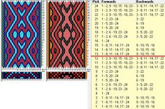24 tarjetas, 4 colores, repite cada 12 movimientos // sed_893a diseñado en GTT༺❁