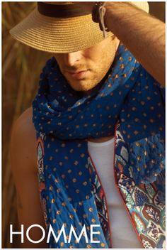 écharpe homme for souleiado by la sartan