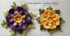 Flor carisma passo a passo | Croche.com.br