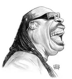 Stevie Wonder  - artist: Vincent Altamore - website: http://vincentaltamore.blogspot.com/
