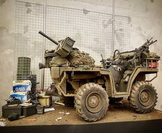 1/6 ATV - Album on Imgur Army Vehicles, Armored Vehicles, Raiders, Homemade Tractor, Military Action Figures, Military Diorama, Toy Soldiers, War Machine, Special Forces