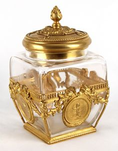 a fine late c french ormolu mounted crystal glass box and cover
