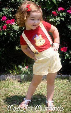 Winnie the Pooh Birthday Outfit Custom listing by madeformermaids, $62.00
