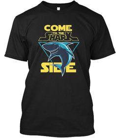 Come To The Shark Side Limited T Shirt Black T-Shirt Front