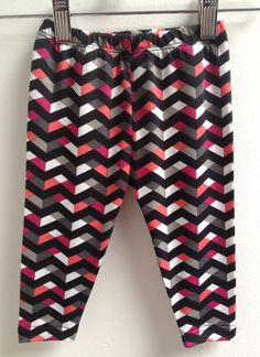 littlefour chevron cotton baby leggings NB by littlefourclothing