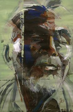 "Saatchi Art Artist Khalid Khan - KAAY; Painting, ""Portrait #20"" #art"