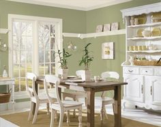 Benjamin moore personal color viewer dining room paint colors neutral best selling greens o designs kitchen Green Dining Room, Dining Room Paint, Green Kitchen Walls, Sage Kitchen, New Kitchen, Kitchen Paint, Benjamin Moore Green, Moore Kitchen, Kitchen Colors