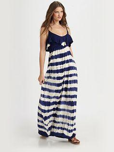 Gypsy Wavy Stripe Maxi Dress. Perfect for summer