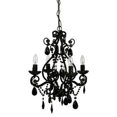 Goth chandelier black vintage chandelier foohoo event tadpoles 4 bulb mini chandelier black mozeypictures Choice Image