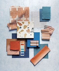 H&G Edit Palette Summer Shades Material Color Palette, Mood Board Interior, Fabric Photography, Material Board, Mood Colors, Collage, Colour Board, Decorating Small Spaces, Color Inspiration