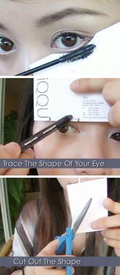 Apply Mascara with a Business Card | Click Pic for 25 Simple Life Hacks Every Girl Should Know | DIY Beauty Hacks Every Girl Should Know
