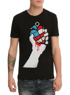 0b01b5c748ee Gettin  this Green Day American Idiot tee. Band Merch