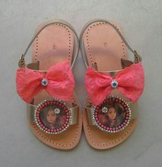 Handmade sandals with photos