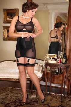After see that picture of Gia in the Lolita Bra, wouldn't you want to complete the set with the coordinating Lolita Open Bottom Girdle? Talk about having the complete...