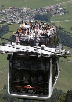 "If you're the least bit afraid of heights, you may want to skip the world's first double-decker, open-top tram. Everyone else, step right up to experience this engineering marvel, opened in June 2012. The Swiss-engineered CabriO (as in ""cabriolet"" convertible) zips 3,737 feet to the top of the Stanserhorn"