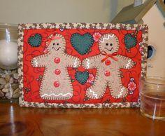 Gingerbread Mug Rug - Christmas Mug Rug   Craftsy