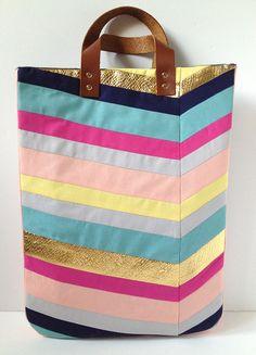 Art-Inspired Chevron Tote Bag 19 by fabricpaperglue, via Flickr
