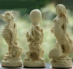 Sea Life Chess Set - close