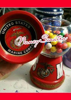 United States Marine Corps gumball jar made by NancySinatra 2015.