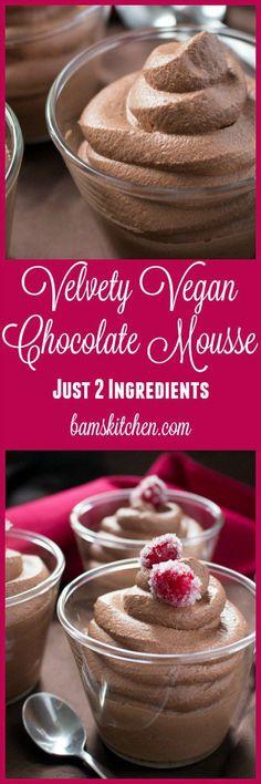 Velvety Vegan Chocolate Mousse / http://bamskitchen.com