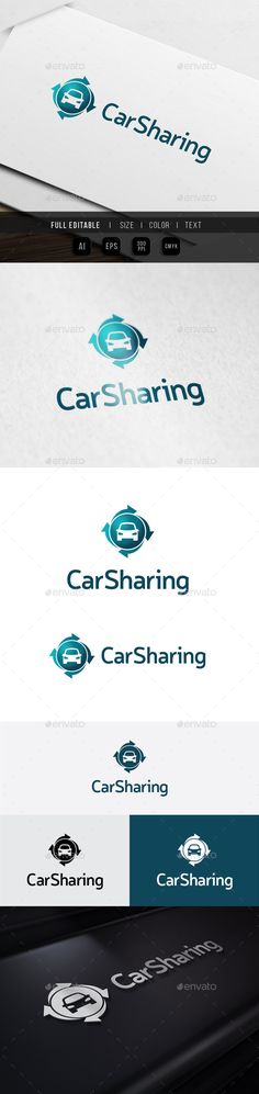 Car Sharing Auto Repair - Logo Design Template Vector #logotype Download it here: http://graphicriver.net/item/car-sharing-auto-repair/10112756?s_rank=1697?ref=nesto