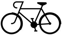 Bicycle Silhouette image perfect for the Silhouette Cameo and free!