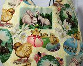 Bib for Baby or Toddler Easter Eggs, Bunnies, Chicks Handmade
