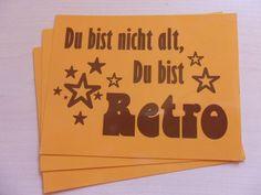 Zum Geburtstag oder einfach so...    Die Karte ist auf der Vorderseite glänzend, auf der Rückseite beschreibbarer Karton.   1,20€