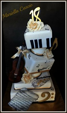 We're entering our first decorating competition next week. We're planning on a music-themed graduation cake. Here's 3 ideas I pinned that we're going to combine. Let me know what you think!