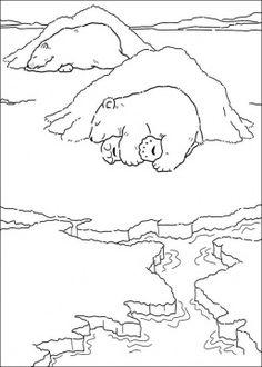 Polar Bear Is Sleeping Draw AnimalsPolar BearColoring PagesCartoonCamping