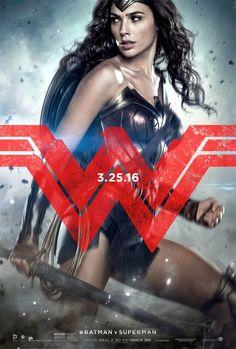 Batman V. Superman Dawn Of Justice movie poster art print Wonder Woman DC comics Gal Gadot affiliate Batman Vs Superman Poster, Superman Characters, Superman Movies, Dc Movies, 2016 Movies, Superhero Superman, Female Superhero, Superhero Movies, Dawn Of Justice