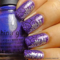 Double Stamping:  Using Cici&Sisi plate 2 and Winstonia W119