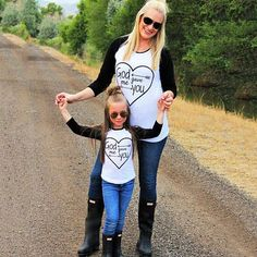 Avaliable now Family Matching Outfits T-shirt Mother Daughter Son Kids Clothing Top tees Family Look long sleeve Letter T shirt Mother & Kids Mother Daughter Shirts, Mother Daughter Matching Outfits, Matching Family Outfits, Matching Clothes, Mom Daughter, Mother Son, Matching Set, Matching Shirts, Mommy And Me Shirt