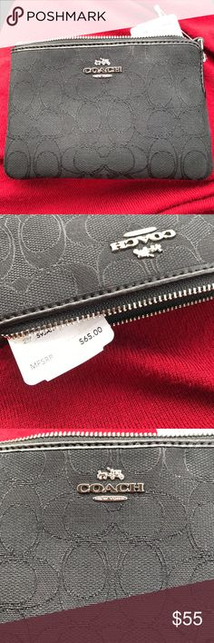 Black Coach Wristlet NWT Black Coach Wristlet NWT, comes with Coach Box as well! NWT, never worn. Open to reasonable offers Coach Bags Clutches & Wristlets