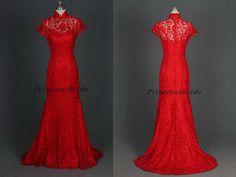 2015 new design high collar bridal wedding by PrincesssBride