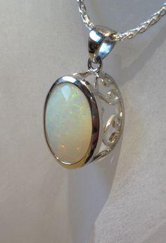 Australian Opal Pendant  Genuine Opal Silver Pendant by OpalEmbers #opalsaustralia