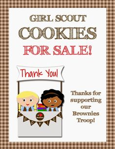 Fashionable Moms: Girl Scouts - FREE Printable Cookie Booth Posters!!!