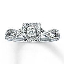 My actual ring. :) 14K White Gold 1/2 Carat t.w. Diamond Engagement Ring