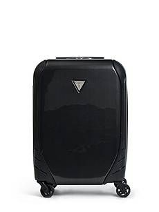 Smooth hard-shell luggage features zipper compartment and interior pockets. Adjustable trolley handle and two carry handles. Spinner Suitcase, Travel Log, Sexy Dresses, Kids, Accessories, Women, Young Children, Boys, Hot Dress