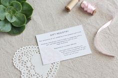 Pink Henna Wedding Invitation Suite, Gift Registry Card :: A beautifully simple yet elegant design which can be customised to suit any wedding colour palette.